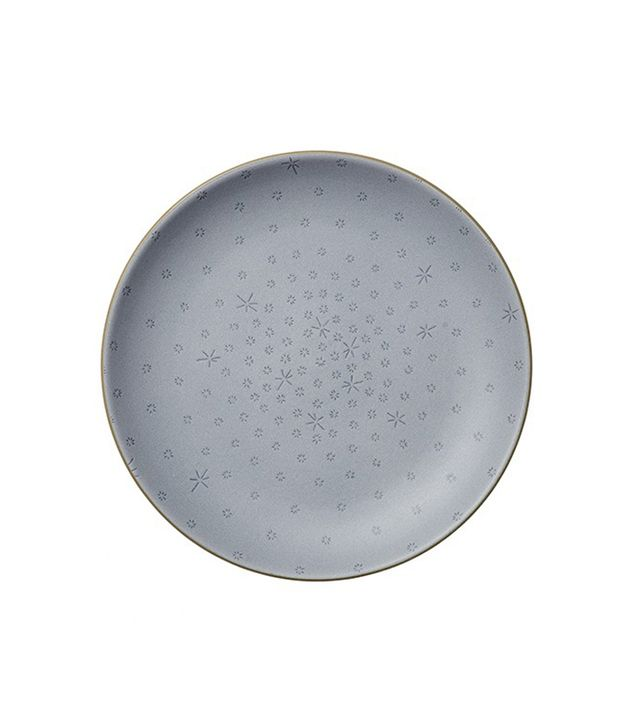Alabama Chanin for Heath Ceramics Indigo Stitch Etched Dinner Plate