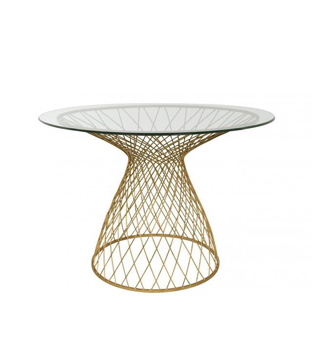 Jayson Home Dakota Table in Gold
