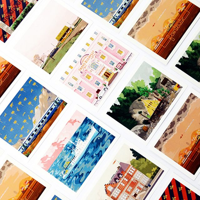 Wes Anderson's Epic Film Sets Are Now Postcard Illustrations
