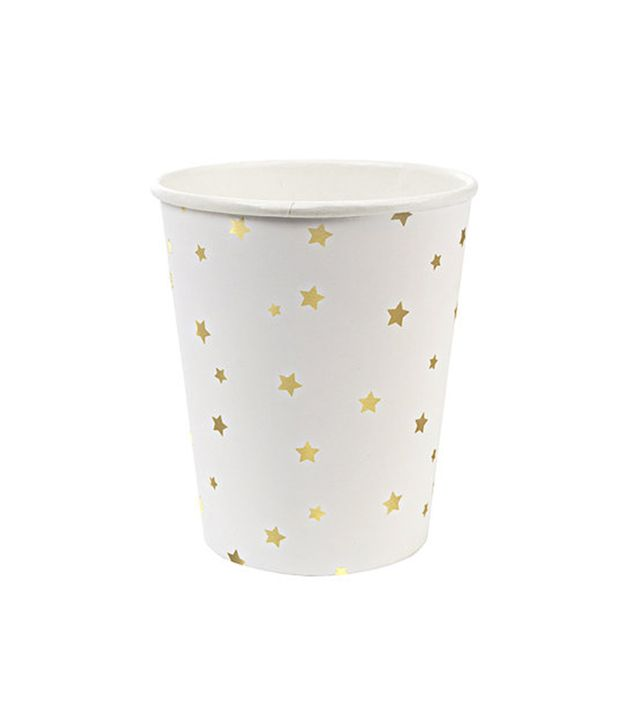 The Paper Kit Toot Sweet Gold Star Pattern Paper Cups