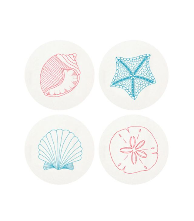 Elliewood Collections Haute Papier Letterpress 'Beach' Coasters