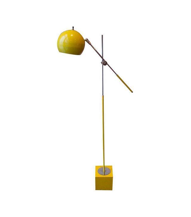 George Kovacs Bright Yellow & Chrome Floor Lamp