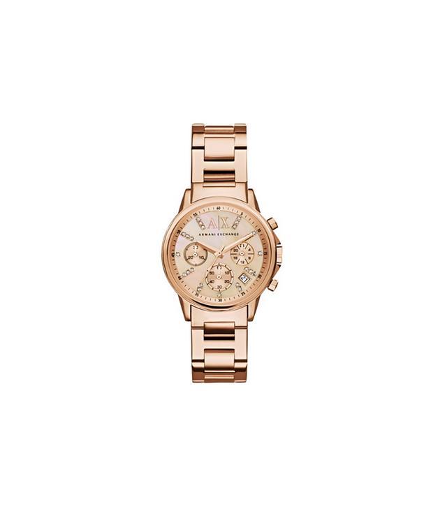 A|X Armani Exchange Women's Chronograph  Rose Gold Watch