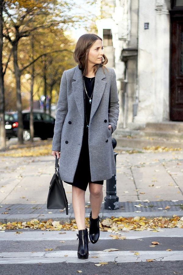 an ultra chic way to wear ankle boots to the office who what wear