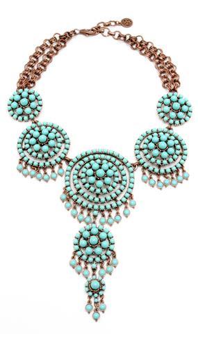 Ben-Amun  Kasbah Turquoise Large Statement Necklace