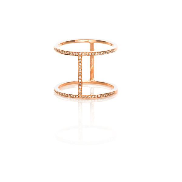 EF Collection  Diamond Bar Ring