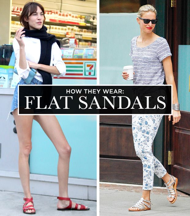 e214bde7e6d0 A Celebrity Guide To Wearing Flat Sandals