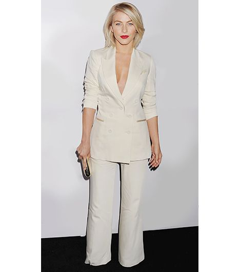 No Shirt No Problem The Sexy Way To Wear Your Pantsuit Who What Wear