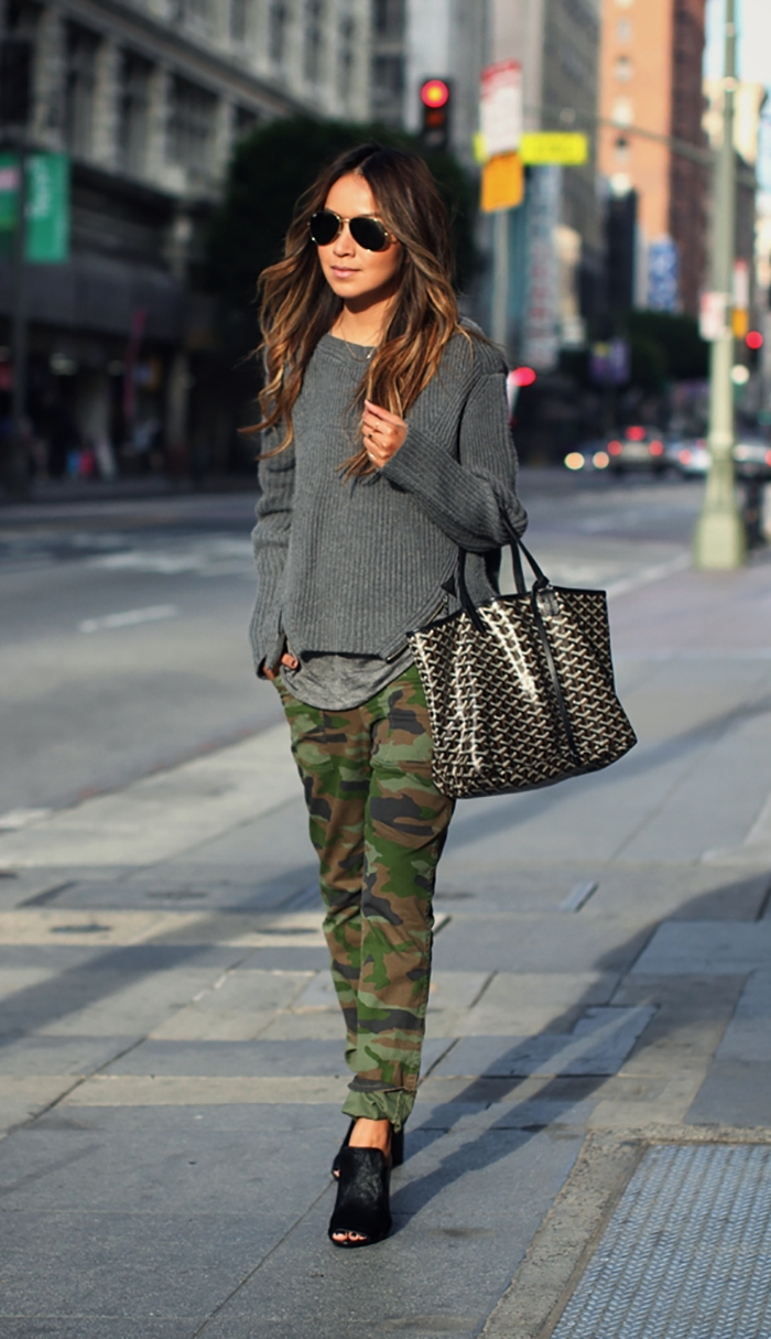How To Layer Your Chunky Sweater Like A Style Blogger Who What Wear
