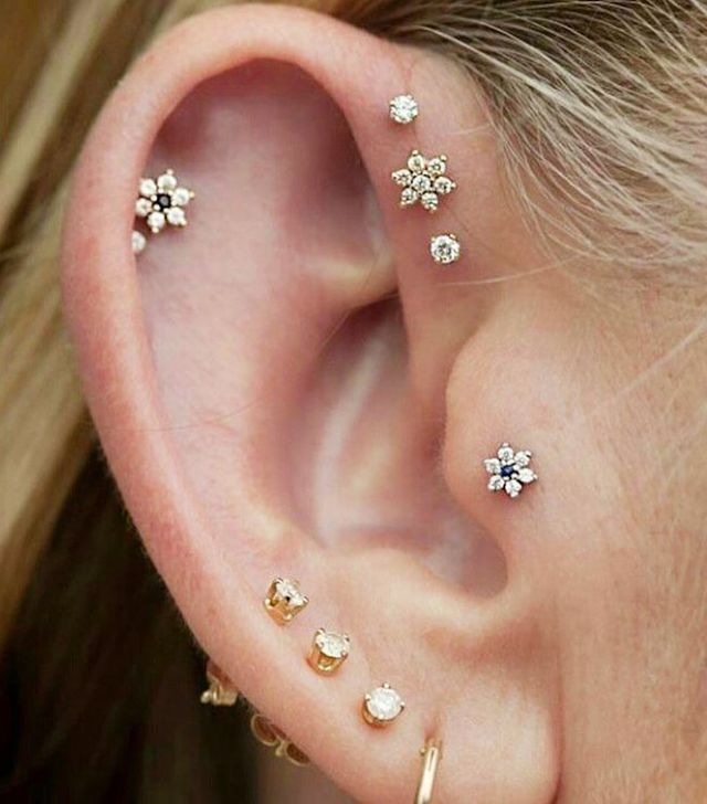 P Flower Shaped Studs Are A Feminine Alternative To The Typical