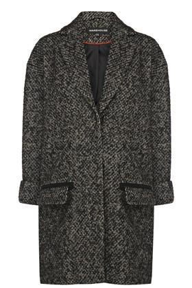 Warehouse Neon Tweed Coat