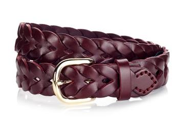 A.P.C. Bordeaux Braided Leather Belt