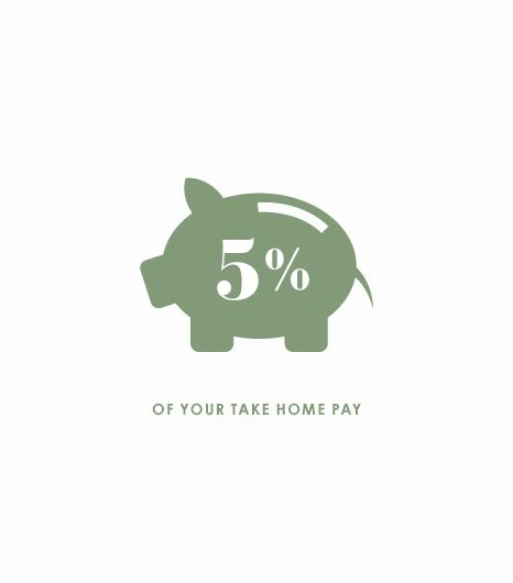 5% of Your Take-Home Pay