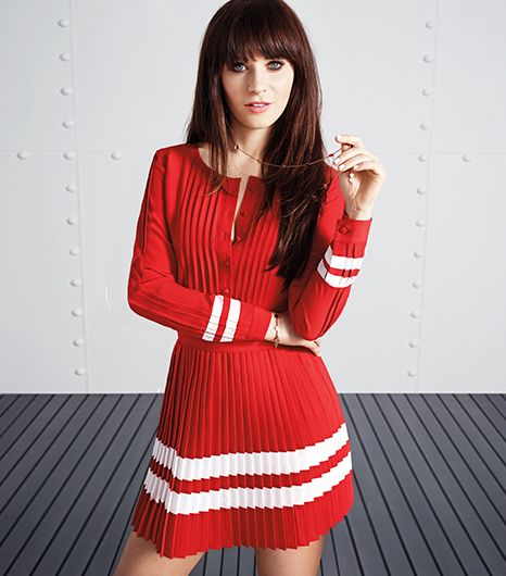 Zooey Deschanel And Tommy Hilfiger Team Up Adorable Outfits Ensue Who What Wear