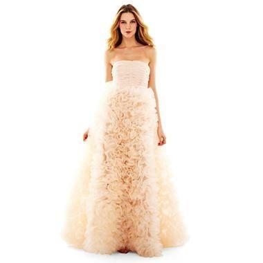 Pearl by Georgina Chapman of Marchesa Long Organza Dress