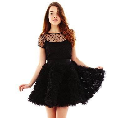 Pearl by Georgina Chapman of Marchesa Polka Dot Rosette Dress