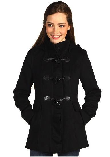 Kensie Kensie Hooded Toggle Front Coat