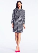 Kate Spade New York  Striped Dorothy Coat