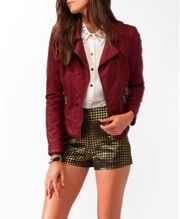 Forever 21 Distressed Faux Leather Moto Jacket