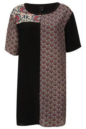 Topshop by Boutique  Contrast Floral Silk Dress