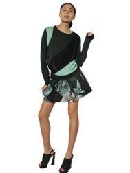 Proenza Schouler  Silk Knit Patchwork Sweater