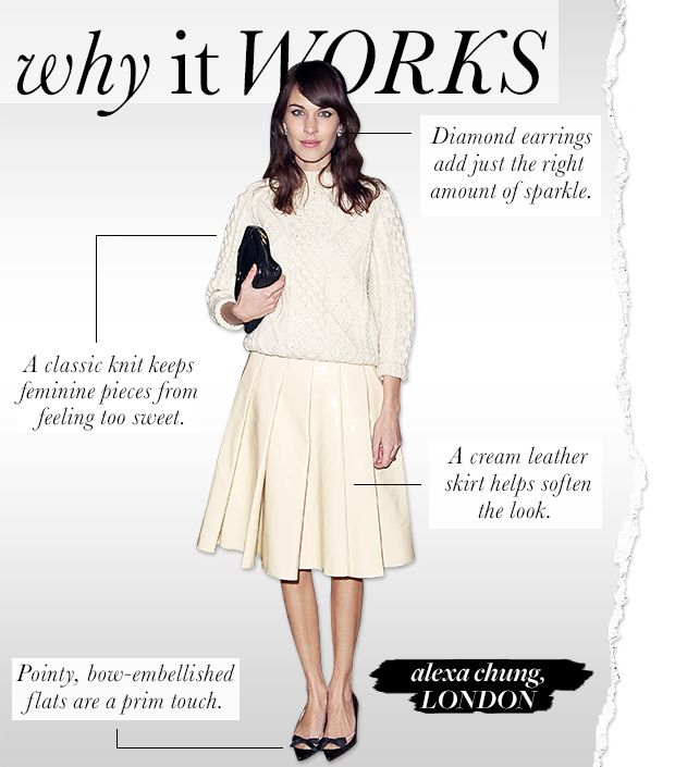 Alexa Chung Offers A Modern Take On Ladylike Dressing.