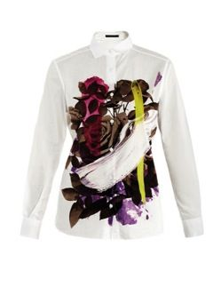 Christopher Kane  Christopher Kane Floral Paint-Print Shirt
