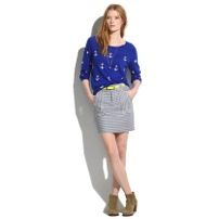 Madewell Madewell Striped Mini Skirt