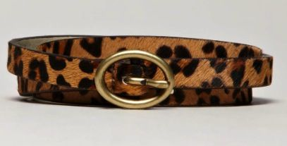 American Eagle  American Eagle AEO Leopard Skinny Belt