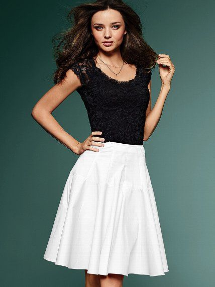 Victoria's Secret  Poplin Full Skirt