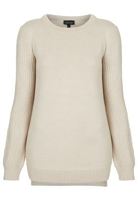 Topshop  Knitted Rib Sleeve Jumper