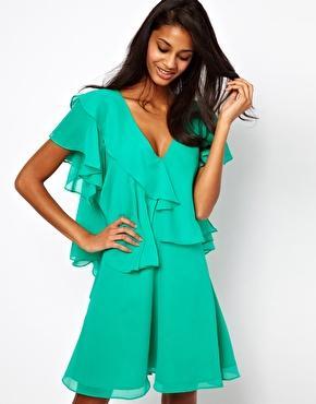 ASOS Mini Dress with Ruffles