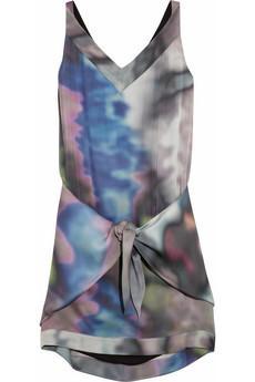 Damara Printed Silk Mini Dress