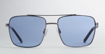 Kenneth Cole  Gunmetal Square Aviator Sunglasses