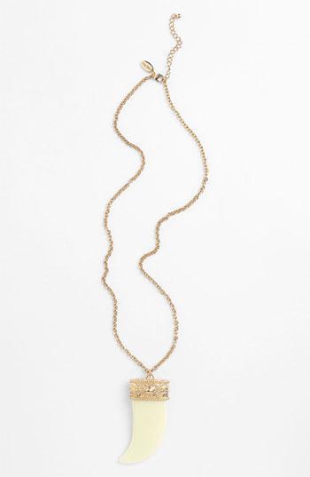 Cara Horn Pendant Necklace