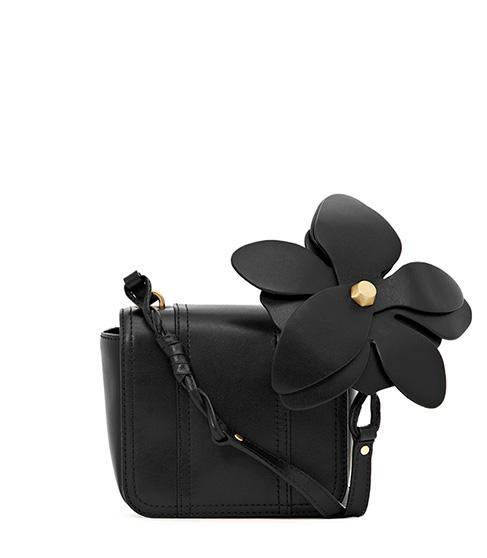 Reiss Rosario Leather Flower Applique Bag
