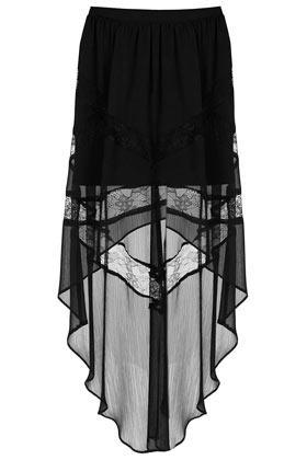 topshop Lace Insert Maxi Skirt