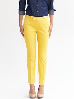 Banana Republic Fit Textured Crop Pants