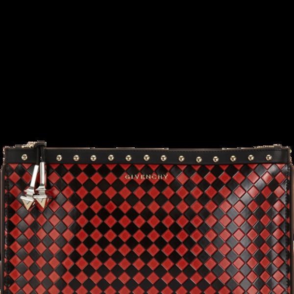 Givenchy Diamond-Pattern Medium Zip Pouch