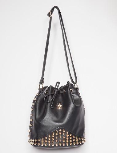 Pixie Market Skull Bucket Bag