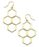 Yochi Gold Honeycomb Earrings