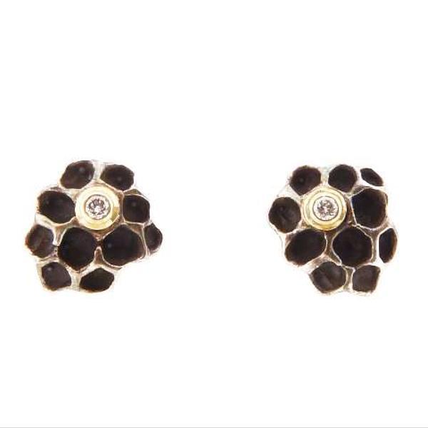Jamie Joseph Small Honeycomb Stud Earrings