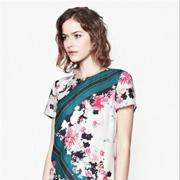 French Connection Belle Garden Silk Dress