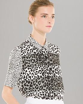Sandro Leopard Silk Top