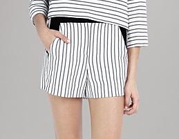 Maje Stripe Shorts