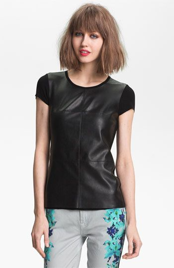 Bailey 44  Vaca Faux Leather Tee