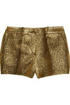 Michael Kors  Metallic Brocade Shorts