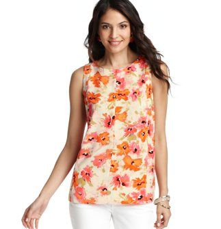 Loft Floral Dream Print Structured Shell