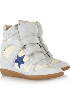 Isabel Marant Bayley Suede And Leather High-Top Sneakers