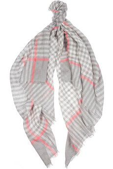 Marc by Marc Jacobs  Belinda Checked Linen-Blend Scarf
